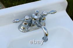 4 Center Set Lavatory Faucet Pop-up Ks7101tal, Poignées De Levier Chrome Polies