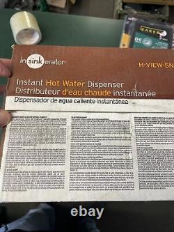 Insinkerator H-view-sn Distributeur Instantané D'eau Chaude Robinet Et Réservoir Satin Nickel