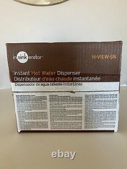 Insinkerator H-view-sn Distributeur Instantané D'eau Chaude Robinet & Réservoir Satin Nickel
