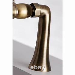Kingston Brass Ks268ab 7-inch Centre Deck Mont Tub Filler, Laiton Antique