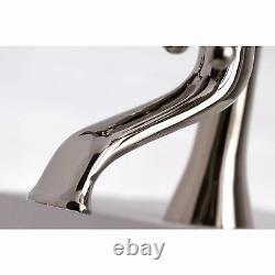 Kingston Brass Ks288pn Essex 7-inch Center Deck Mount Double Handle Tub Fauce