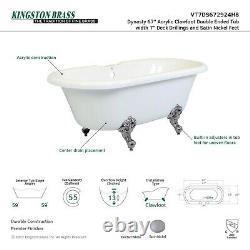 Kingston Brass Vt7ds672924h8 67 Pouces Acrylique Claw Foot Double Ended Tub Avec
