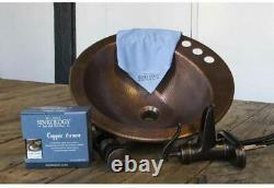 Kit De Cloches En Cuivre De Salle De Bains Tout-en-un Ashfield Rustic Bronze Center Robinet