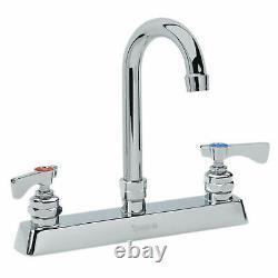 Krowne Royal Series 8 Center Deck Mount Faucet, 3-1/2 Gooseneck Spout, 15-525l