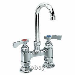 Krowne Royal Series 8 Center Deck Mount Faucet, 8-1/2 Gooseneck Spout, 15-502l