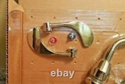 T&s Brass B-2347 Medical Faucet Withside Spray, 8 Centers, Gooseneck Modifié