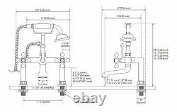 Tub Faucet Signature Hardware 3-handle Claw Foot Centers 7 Gold Brass 389 $ Nouveau