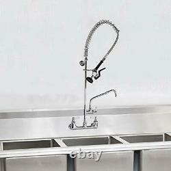 Yg Commercial Sink Kitchen Faucet Tirez Vers Le Bas Sprayer Pré-rinçage 8'' Mur Central