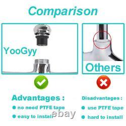 Yoogyy Commercial Pré-rinçage Sprayer Robinet 4-8 Pouces Réglable Pont Central Moun